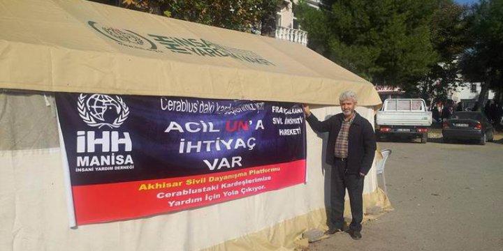 Akhisar Sivil Dayanışma Platformu, Cerablus'a Yardım Başlattı