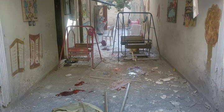 Esed Rejimi Anaokulu Vurdu: Tamamı Çocuk 8 Ölü, 15 Yaralı!