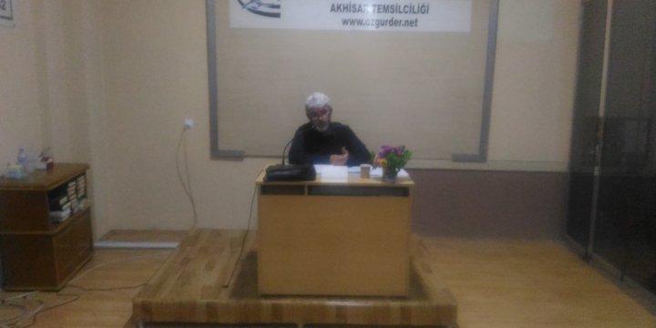 "Akhisar Özgür-Der'de ""Medyada Algı Yönetimi"" Konuşuldu"
