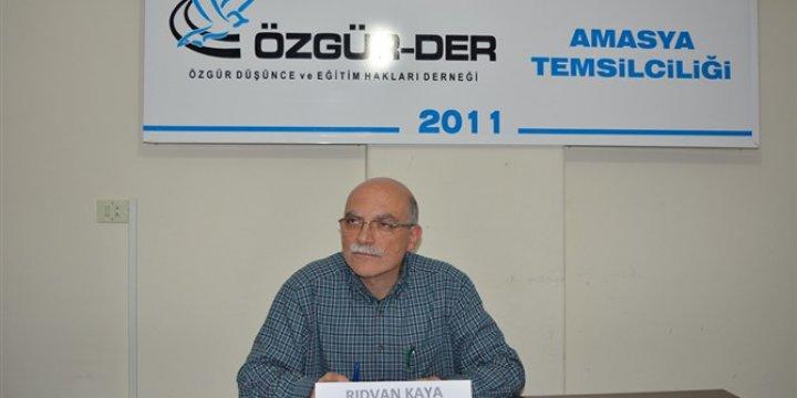 """Amasya Özgür-Der'de """"Müslüman Şahsiyetin İnşası"""" Konuşuldu"""