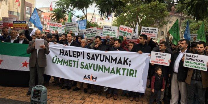 Halep'teki Kuşatma ve Katliamlar Adana'da Protesto Edildi