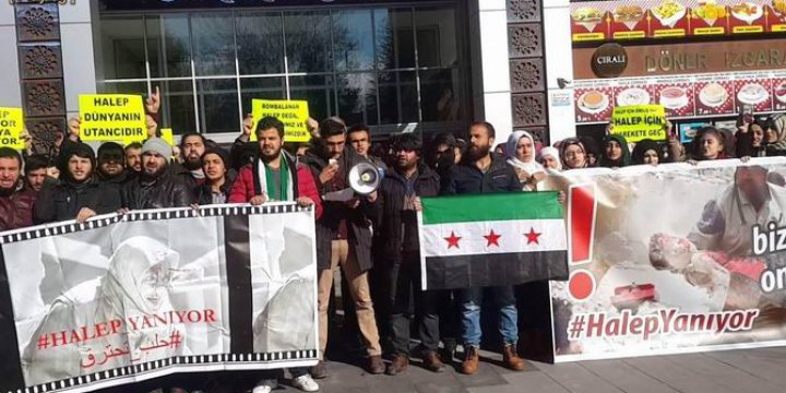 Halep'teki Katliamlar Selçuk Üniversitesinde Protesto Edildi