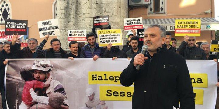 Halep'teki Kuşatma ve Katliamlar Bartın'da Protesto Edildi