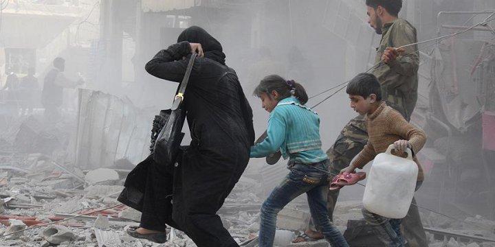 Esed, Rusya ve İran Kaçan Sivillere Saldırdı