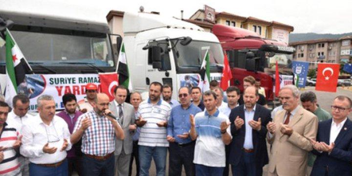 Bursa'dan Suriye'ye 4 İnsani Yardım Tırı Gönderildi