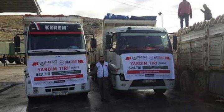 Suriye'ye 100 Tonluk Yardım