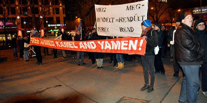 Macaristan'da Hapsedilen Suriyeliye Destek