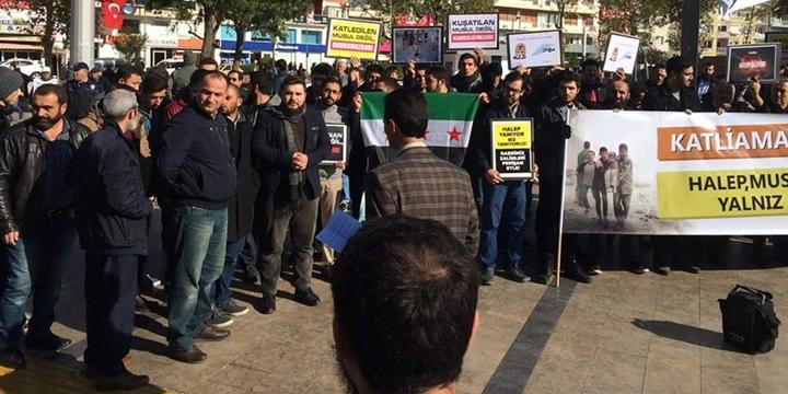 Halep'teki Katliamlar Aydın'da Protesto Edildi
