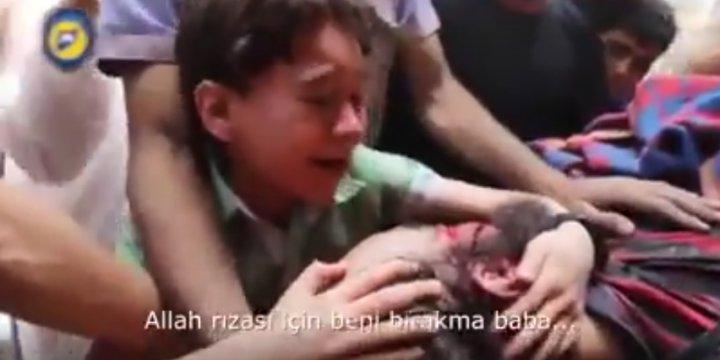 Halepli Çocuk: Dünya Bizi Terk Etti, Baba Sen Bırakma!