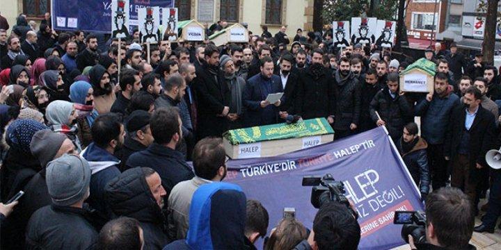 AK Partili Gençler Kocaeli'de Halep'teki Katliamları Protesto Etti