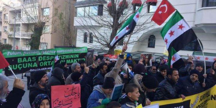 Halep'teki Katliam ve Kuşatma Ankara'da Protesto Edildi