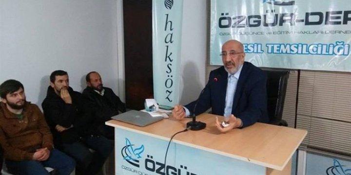"""Eynesil Özgür-Der'de """" Kurucu Efsane: Kurtuluş Savaşı"""" Konuşuldu"""