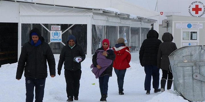 Makedonya'daki Mültecilerin Soğukla Mücadelesi!