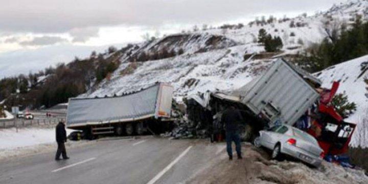 Afyonkarahisar'da 11 Araç Birbirine Girdi