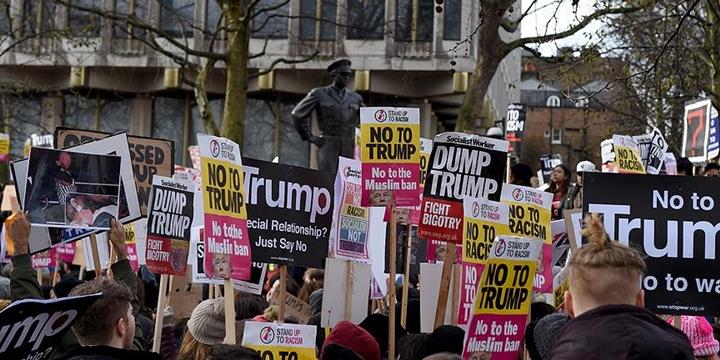 Londra'da Protesto: Trump'a Yapılan Davet Geri Alınsın