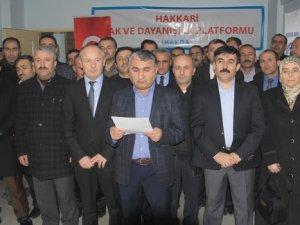 Hakkari'de 28 STK Nihat Gür ve Fahrettin Çelik'in Görevlerine İadesini İstedi!