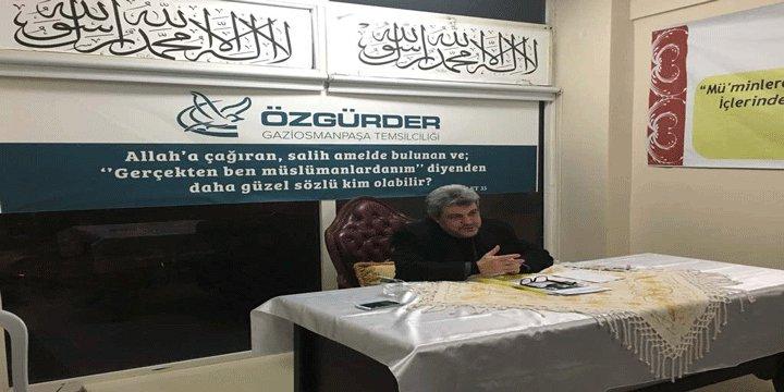 """Gaziosmanpaşa Özgür-Der'de """"Anayasa Referandumu ve Cumhurbaşkanlığı Sistemi"""" Konuşuldu"""
