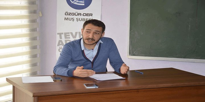 """Muş Özgür-Der'de """"Seyyid Kutub ve Kur'an Nesli İdeali"""" Konusu Ele Alındı"""