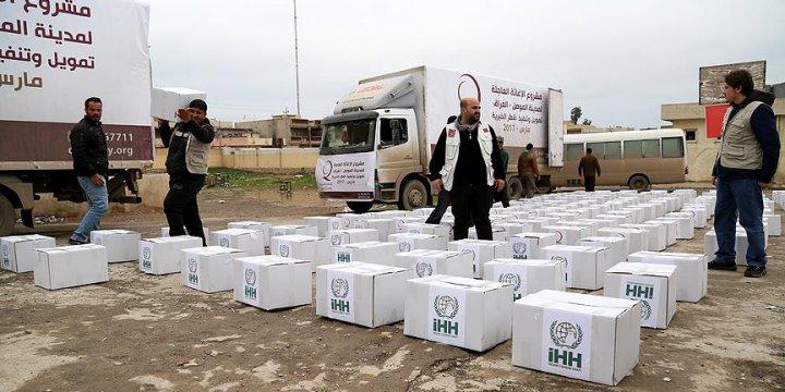 İHH'dan Musul Halkına Gıda ve Tıbbi Yardım