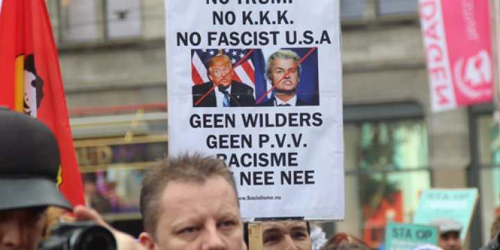 """""""Wilders'e Hayır, PVV Partisine Hayır, Irkçılığa Hayır"""""""
