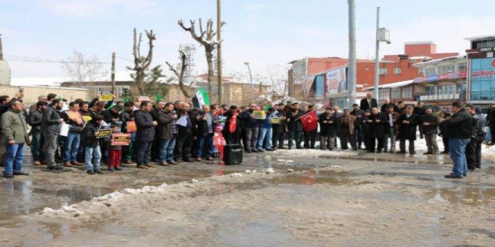 ABD'nin Suriye'deki Cami Katliamı Muş'ta Lanetlendi