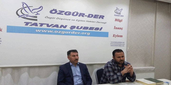 Tatvan Özgür-Der'de ''Irak Kürdistan Bölgesindeki İslami Hareketler'' Konuşuldu