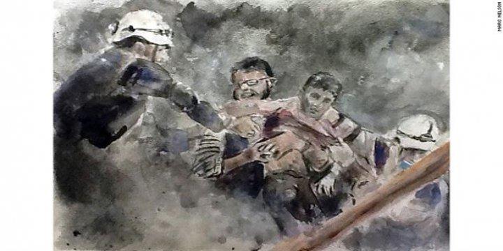 En Zor Çizim: Suriyeli Çocukların Çektiği Acıyı Resmetti