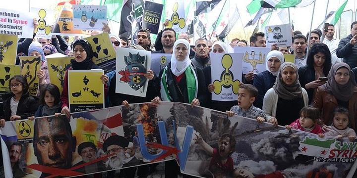 İdlib'deki Kimyasal Katliam Avusturya'da Protesto Edildi