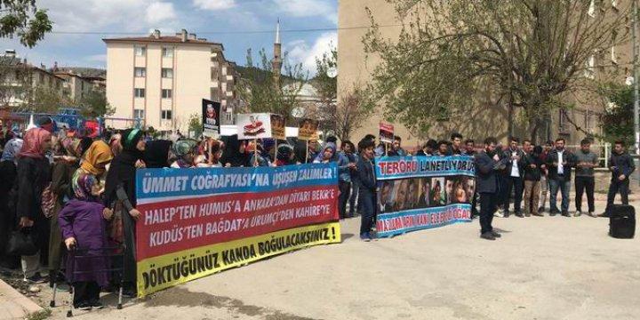 Amasya Üniversitesi Öğrencileri İdlib Katliamını Lanetledi!