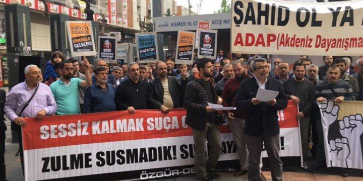 İdlip Katliamı Antalya'da Protesto Edildi