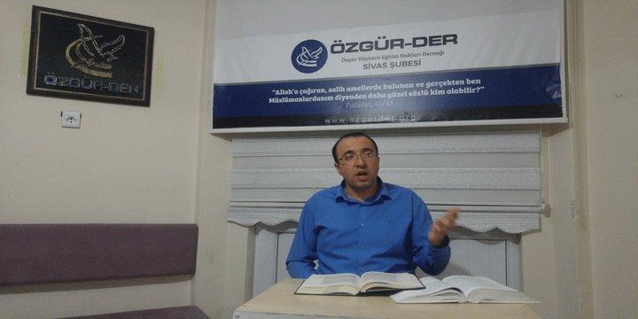 """Sivas Özgür-Der'de """"Yaratılış"""" Konusu Konuşuldu"""