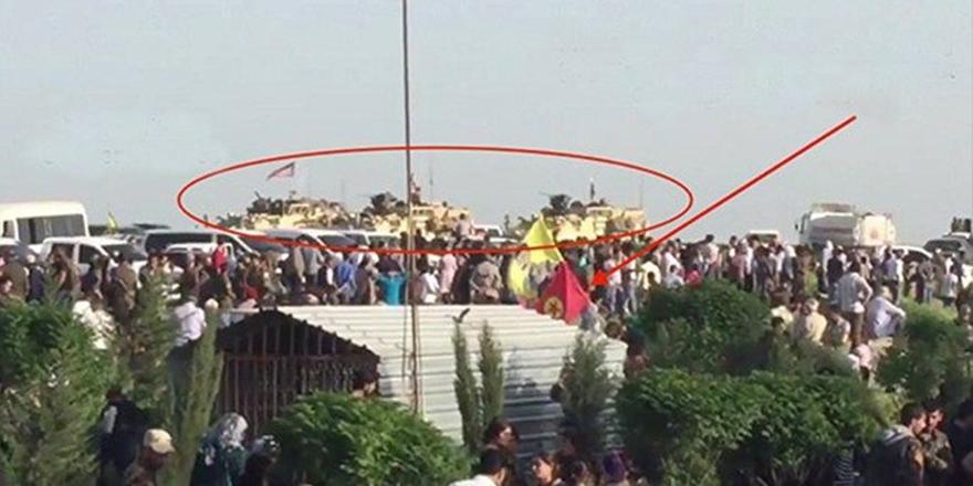 ABD'li Askerler PKK/PYD Cenazesine de Katıldı!