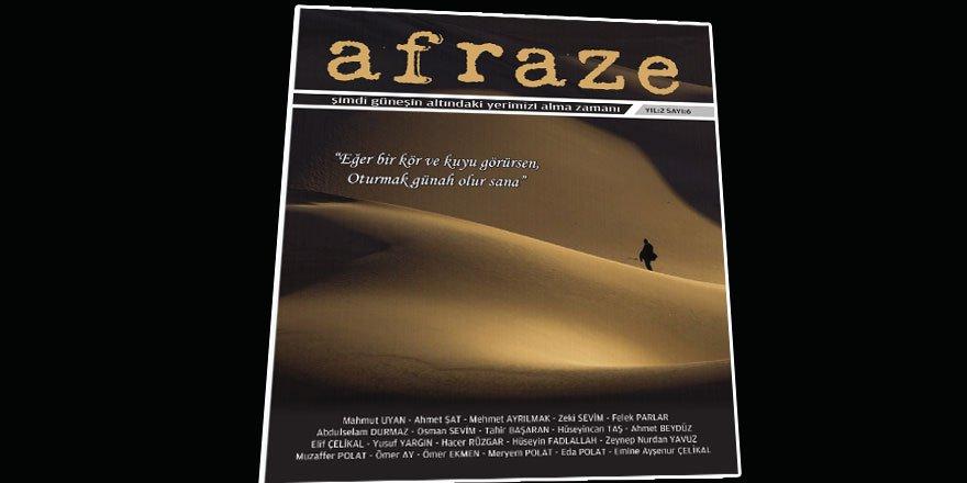 'Afraze Dergisi'nin Altıncı Sayısı Çıktı!