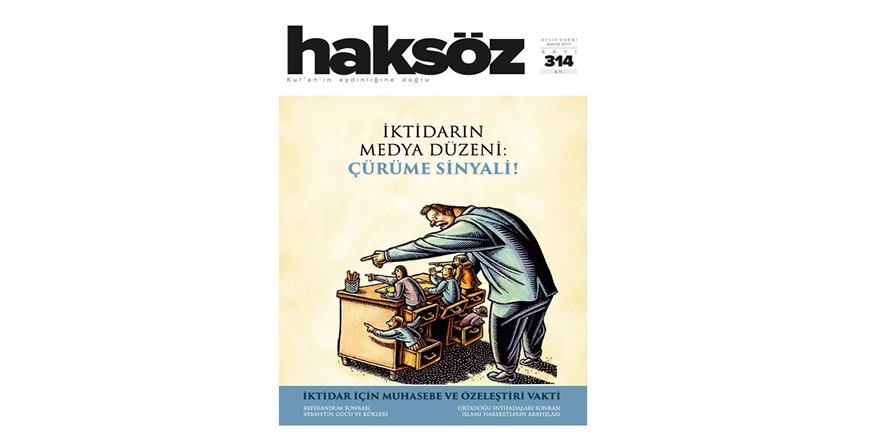 Haksöz Dergisinin Mayıs 2017 Sayısı Çıktı!