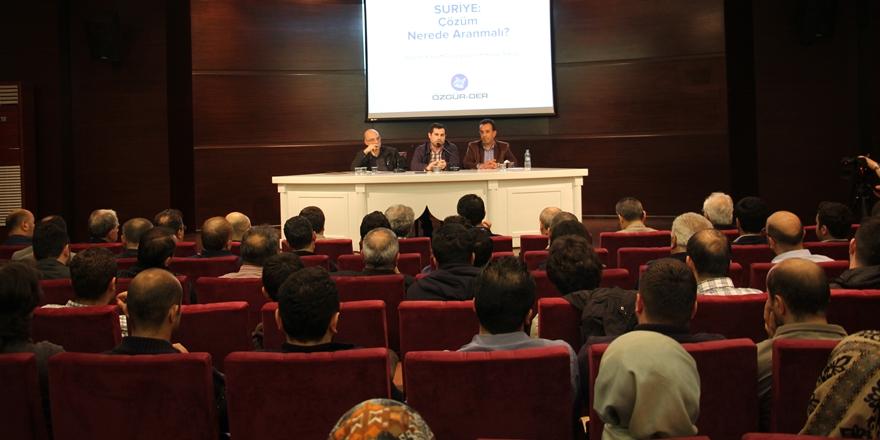 """""""Suriye: Çözüm Nerede Aranmalı?"""""""