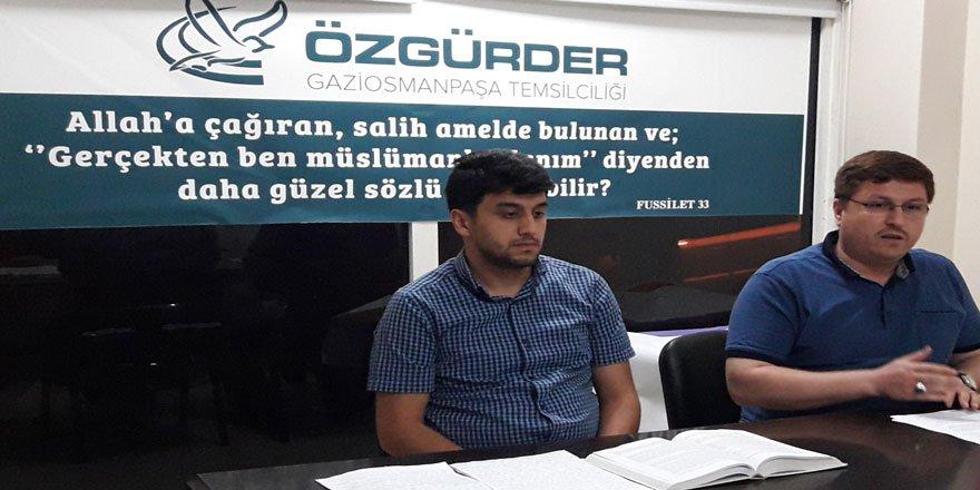 """Gaziosmanpaşa'da """"Oruç İbadetinin Mahiyeti ve İlmihali"""" Konuşuldu"""