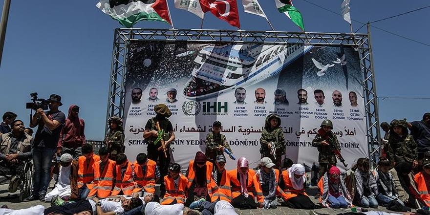 Mavi Marmara Şehitleri Gazze'de Anıldı
