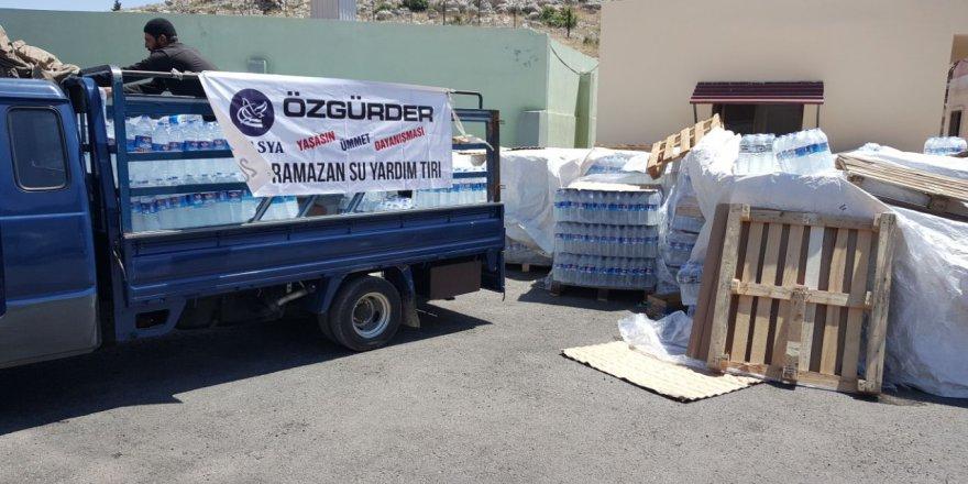 Amasya Özgür-Der Suriye'ye İçme Suyu Gönderdi