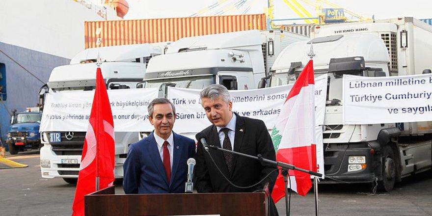 Türkiye'den Lübnan'a 70 Tonluk Gıda Yardımı