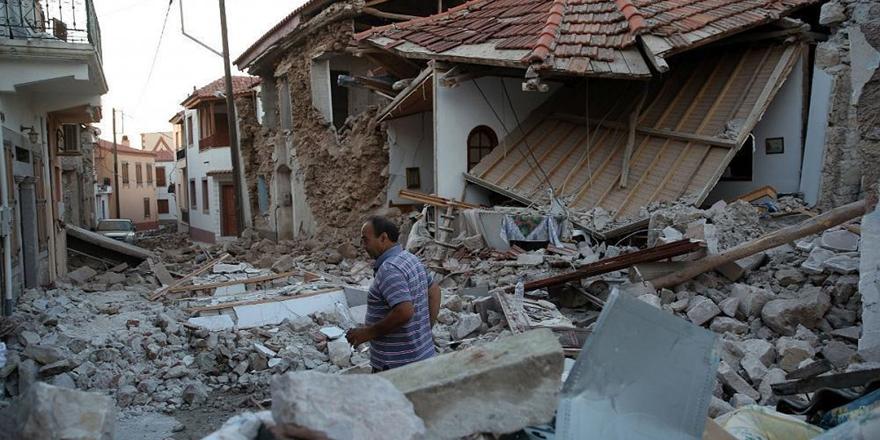 Deprem Midilli Adası'nı Vurdu