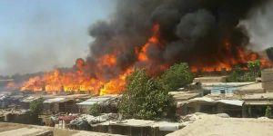 Afganistan'da Yangın: 475 Mağaza Kül Oldu