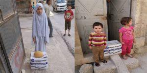 Özgür-Der İdlib Hama'da Kumanya Dağıtımı Gerçekleştirdi