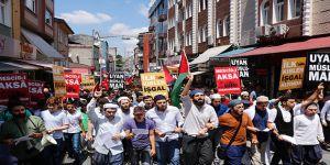 Türkiye'de İşgalci İsrail'in Mescid-i Aksa'ya Yönelik Zulümleri Protesto Edildi