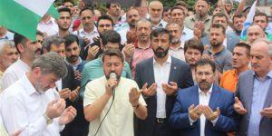 İşgalci İsrail'in Mescid-i Aksa'ya Yönelik Zulümleri Kocaeli'de Tel'in Edildi