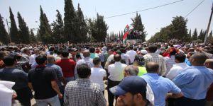 İşgalci İsrail Ürdün'de Protesto Edildi