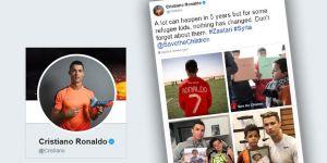 """Ronaldo'dan """"Suriyeli Çocukları Unutma"""" Çağrısı"""