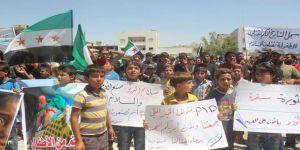El Bab'da PKK/PYD Karşıtı Gösteri
