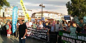 Arakan'daki Zulümler Sivas'ta Protesto Edildi
