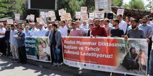 Bingöl'de Arakan'daki Katliama Protesto