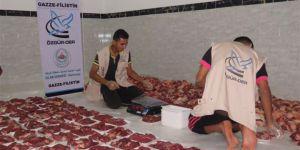 Özgür-Der Üye ve Gönüldaşlarının Kurbanları Gazze'de Kesildi